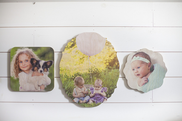 Photobarn shaped photo boards