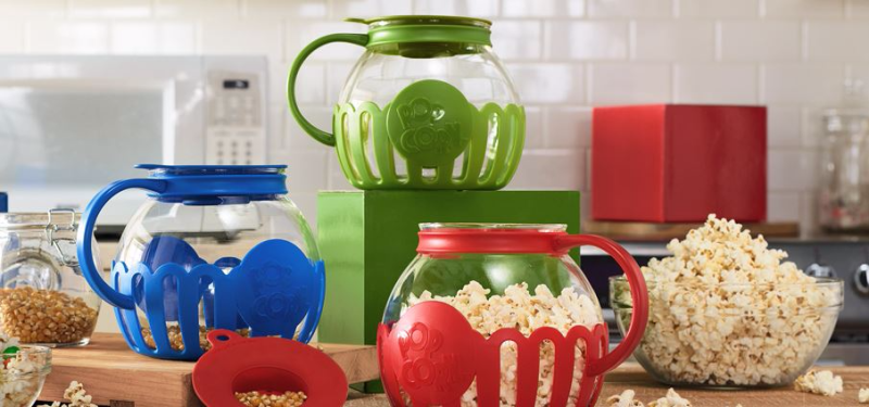 Set of 3 ecolution microwave popcorn poppers