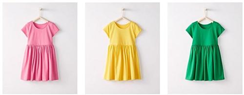 Hanna andersson bright basics dresses