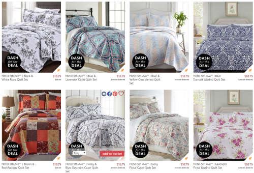 Quilt sets at zulily