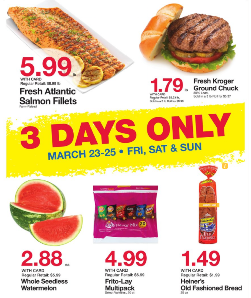 Kroger 3 day sale