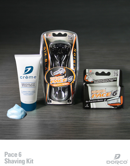 Dorco pace shaving kit