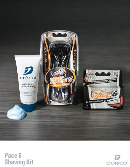 Dorco pace shaving kit
