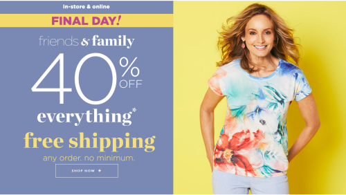 Christopher and banks 40% off free shipping