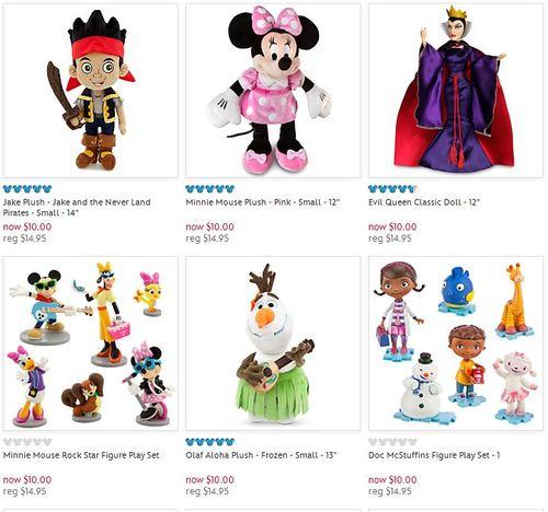 Disney $10 plush and playsets
