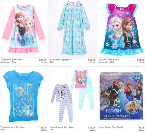 Frozen at zulily