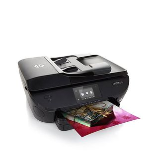 HP Officejet 5740 Wireless Photo Printer, Copier, Scanner and Fax with HP Photo Card Kit, 1-Month Instant Ink and Software