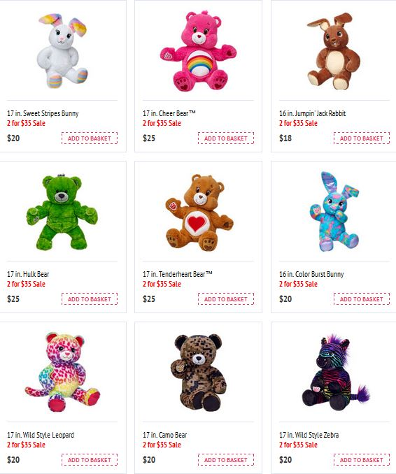 Build a bear favorites