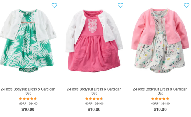 Carter's Memorial Day Sale - $5 Tees, Rompers, $10 Dresses