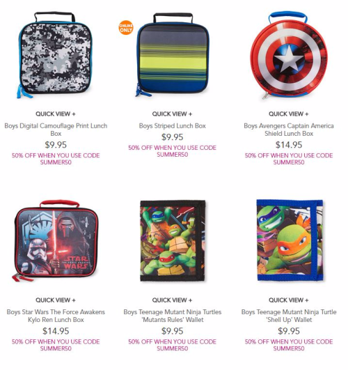 Children's place lunch box 2