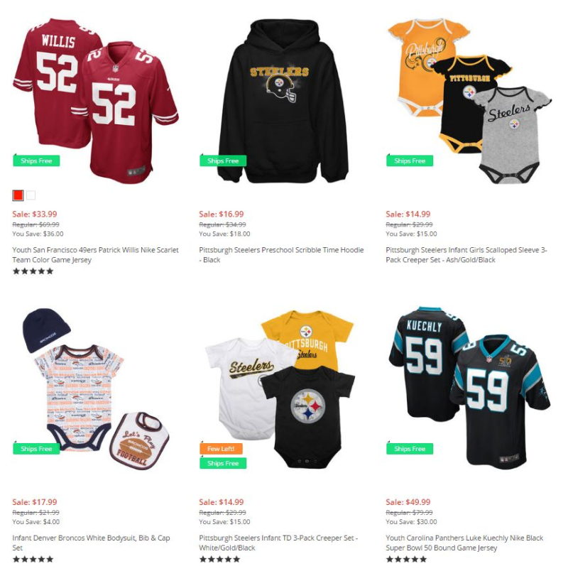 Nfl shop kids