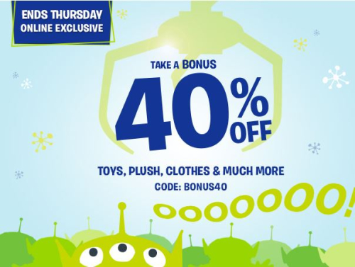 Disney store coupon 40% off
