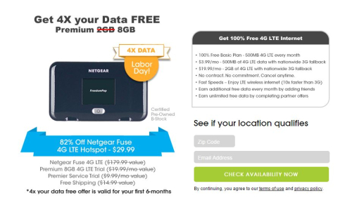 Freedom pop 4x data free