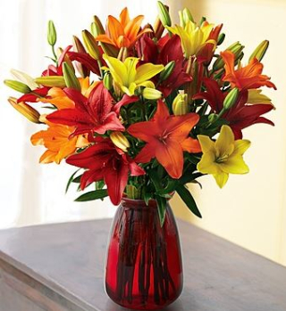 1800flowers autumn lillies