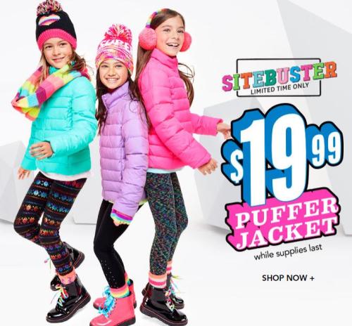 Children's place puffer jacket