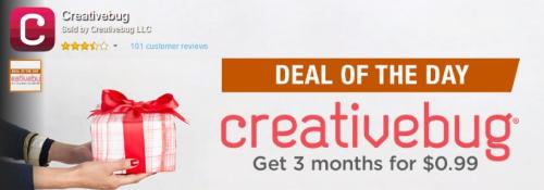 Creativebug 3 months of classes .99