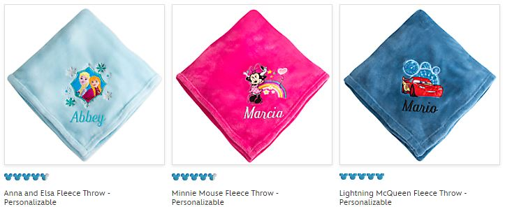 Disney store fleece throws