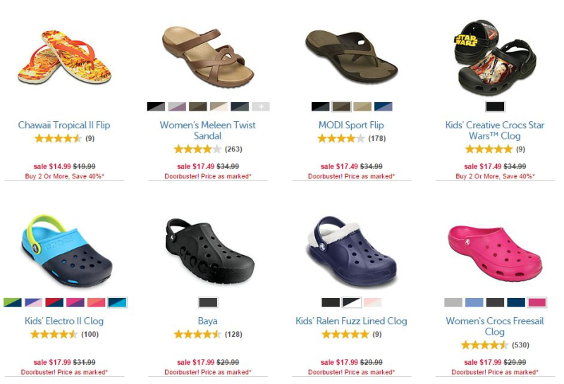 Crocs flash sale