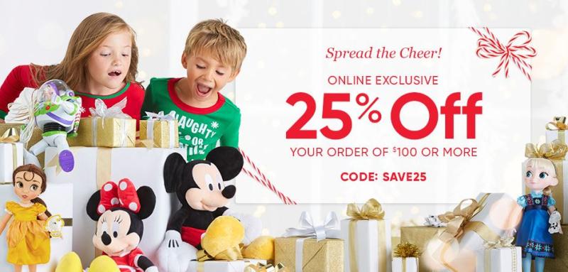 Disney store 25% off