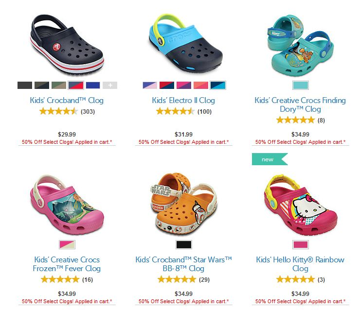 Crocs clogs 50% off