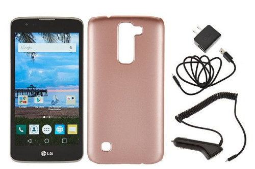 LG Treasure LTE TracFone Smartphone with case and 1350 minutes