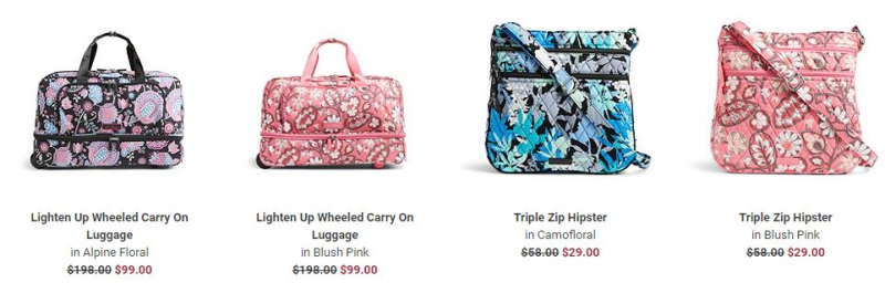 Vera bradley 50% off sale select patterns