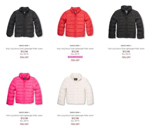 Children's place puffer jackets 2
