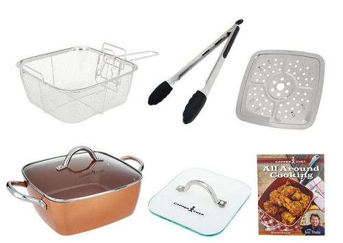 Copper chef 95 square pan with 5 piece cooking system recipes