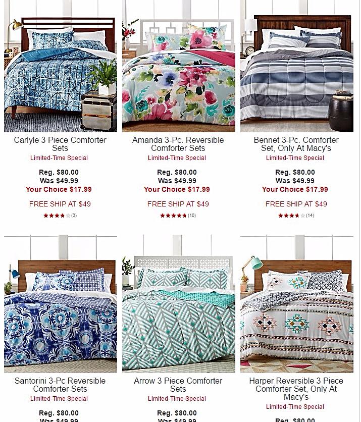 Macy's comforter sets