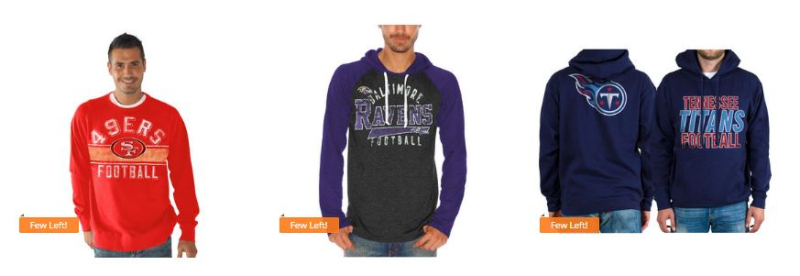 NFL sweatshirts on sale