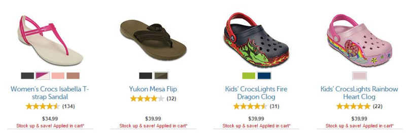 Crocs sale + Coupon