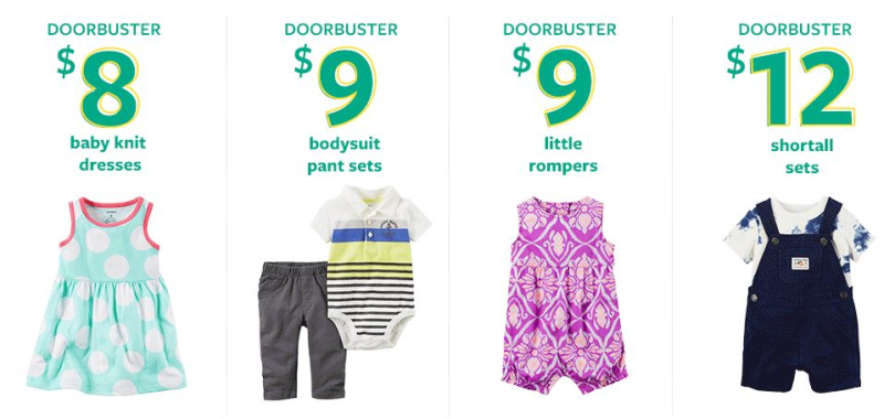 Carter's door busters from $6