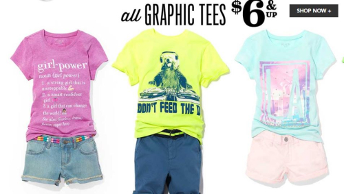 Children's place graphic tees