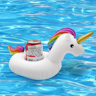 Unicorn pool drink holder