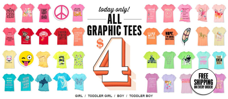 Children's place $4 graphic tees