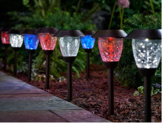 Paradise set of 8 color select solar light set qvc