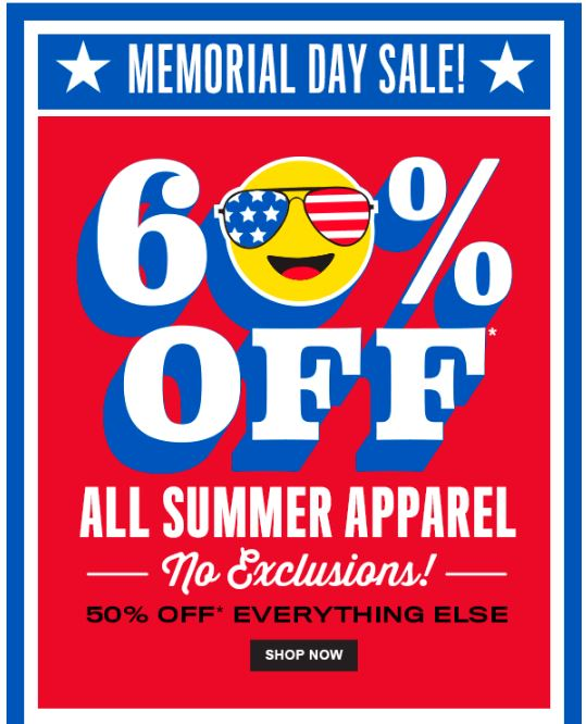Children's place memorial day sale