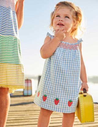 Boden summer smocked dress