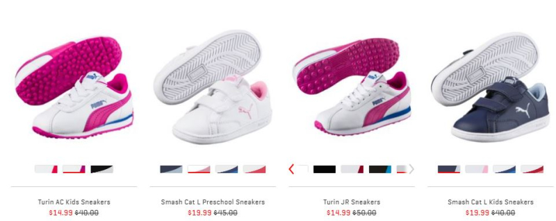 Puma sale back to school kids