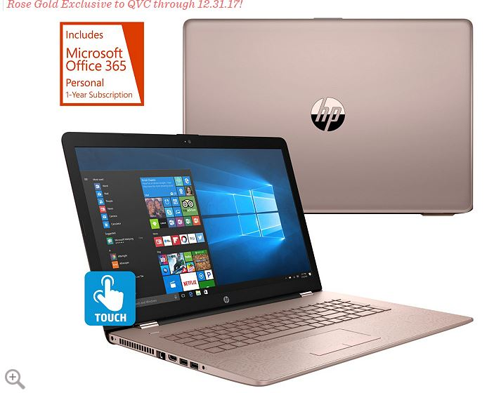 QVC HP Touch Laptop Intel i3 8GB RAM  2TB HD BacklitKeyboard Tech & MSOffice