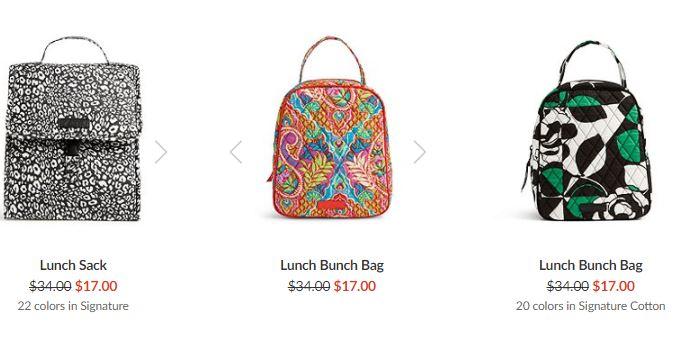 Vera bradley lunch sack