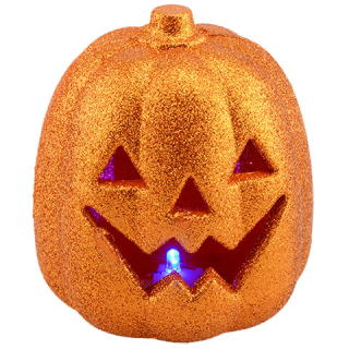 Dollar tree LED glittery pumpkins
