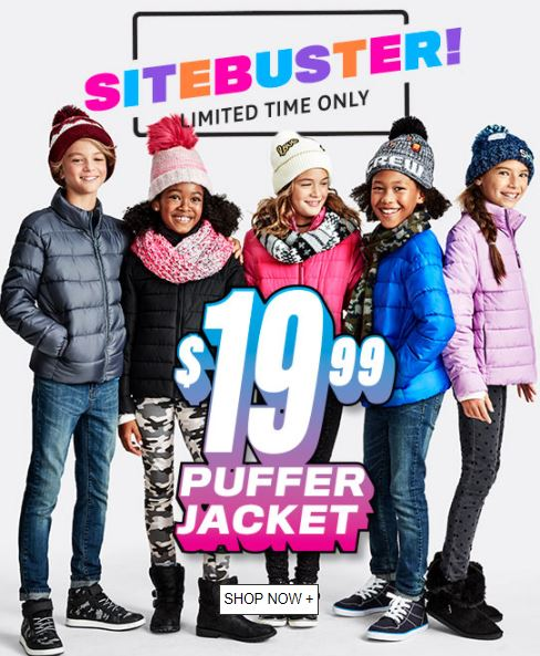 Children's place puffer jackets
