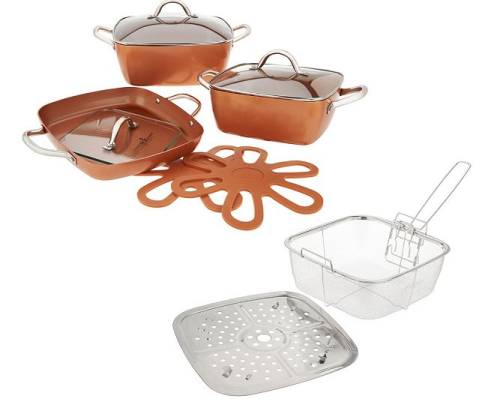 Copper Chef 10-piece Ceramic-Tech Non-Stick Cookware Set