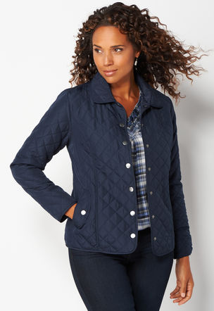 Christopher and banks quilted jacket