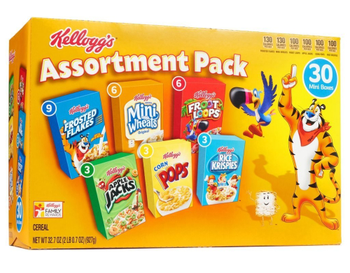 Kellogg's assortment of cereal