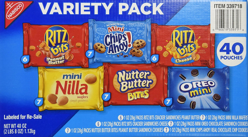 Nabisco mini snack pack