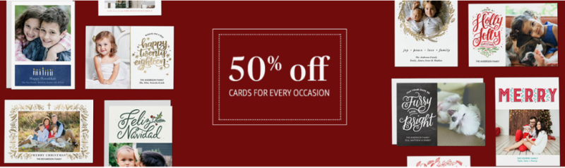 Amazon prints holiday cards