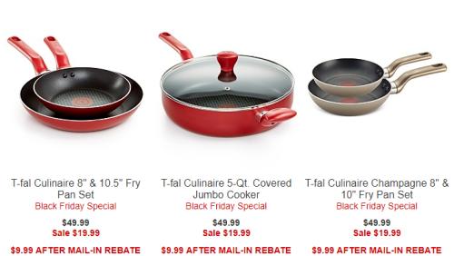 T-fal culinaire cookware deals