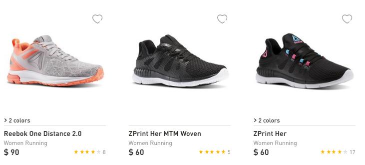 Reebok running shoes $29